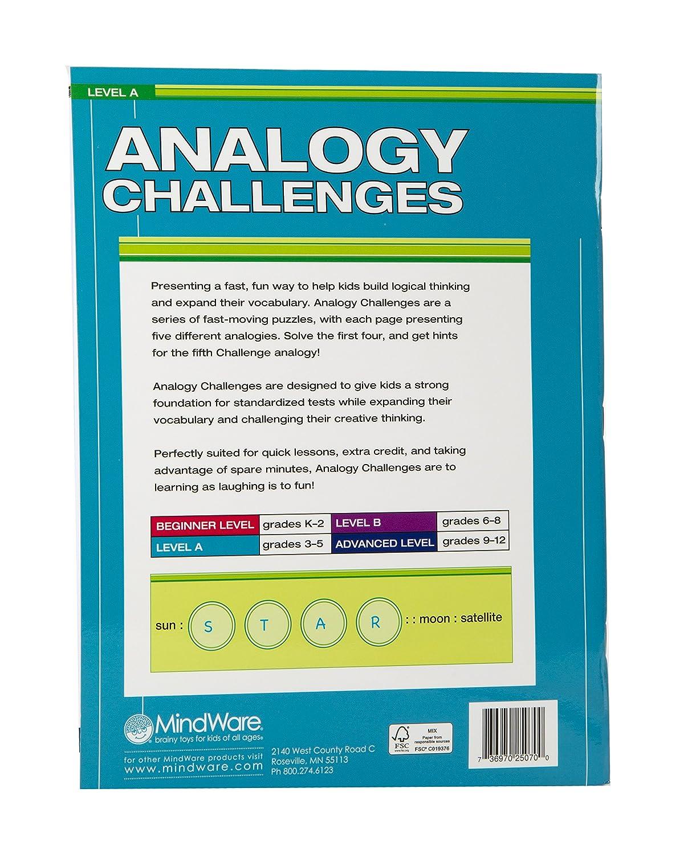 Amazon.com: MindWare Analogy Challenges: Level A 50 Analogy Puzzles ...