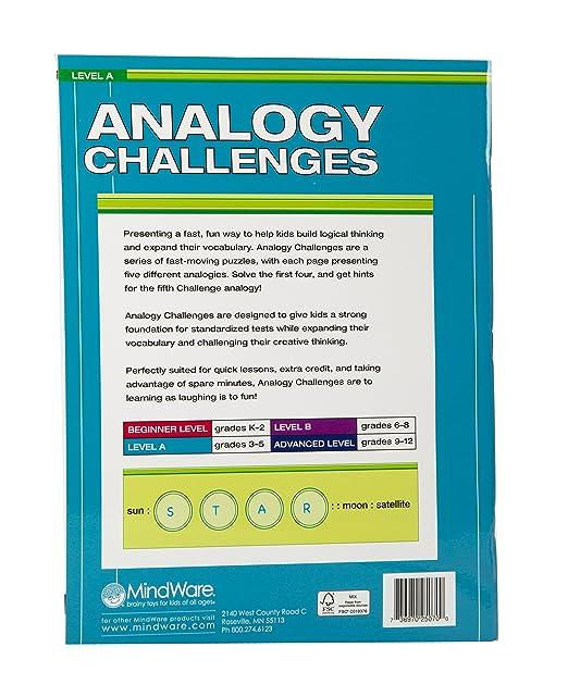 Amazon.com: MindWare Analogy Challenges: Level A 50 Analogy ...
