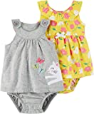 Carter's Girls' 2-Pack One Piece Romper