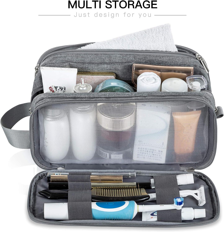 Portable Toiletries Storage Organizer Lizzton Toiletry Bag for Men Travel Large Dopp Kit Water-resistant Women Shaving Bags and one Drawstring Shoes Bag