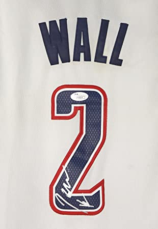 John Wall Washington Wizards Signed Autographed White Alternate  2 Jersey  JSA COA 228b5edae