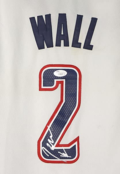 size 40 b0977 02d6c John Wall Washington Wizards Signed Autographed White ...
