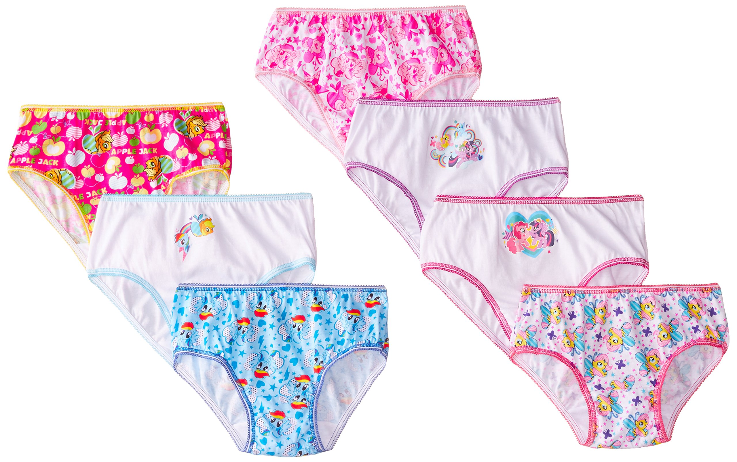 Handcraft Little Girls' My Little Pony Panty (Pack of 7), Multi, 6