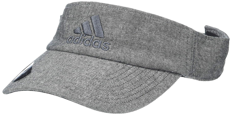 best website c6ba1 49e45 Amazon.com  adidas Men s Ultimate Visor, Black Chambray Onix, One Size   Sports   Outdoors