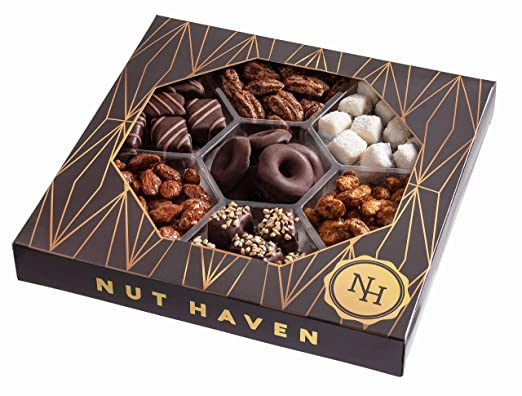 Cesta de chocolate y tuercas de regalo de Nut Haven Gourmet ...