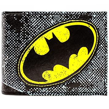 Dc Comics Batman Yellow Symbol Blue Id Card Bi Fold Wallet Amazon