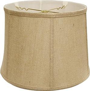 Cloth & Wire Slant Retro Drum Lampshade in Jute (19 in. Dia. x 11.5 in. H (2.5 lbs.))