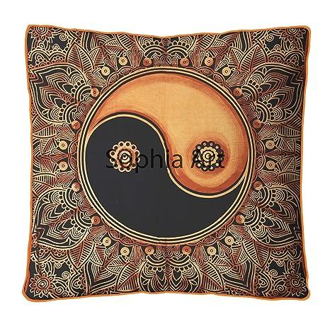 Yin Yang Ombre - Almohada de suelo grande, funda de cojín de ...