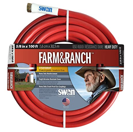 Swan Farm And Ranch Hose SNFR58100 Professional 5/8 Inch By 100 Foot