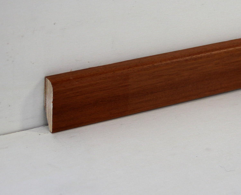 Battiscopa Rivestito In Legno Di Doussi/è Verniciato mm 82X13X2400 Hobby Legno Prezzo Per ml. 4, 80