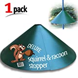 "Deluxe Squirrel-Raccoon Stopper 18""-""Extra Slip Coating""- No Tool Install with our Newest Design - Squirrel Baffle. Solid Steel (1 Pack) by iPrimio"