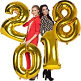 40inch 2018 Year Foil Mylar Balloons for New Years Eve Party Decorations (Pack of 1, Gold 2018)