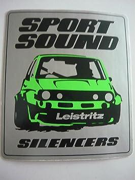 Pegatinas Motor Sport - Sport Sonido - Leist Ritz - silen cers - Volkswagen Golf - Talla CA 11,5 x 13 cm: Amazon.es: Deportes y aire libre