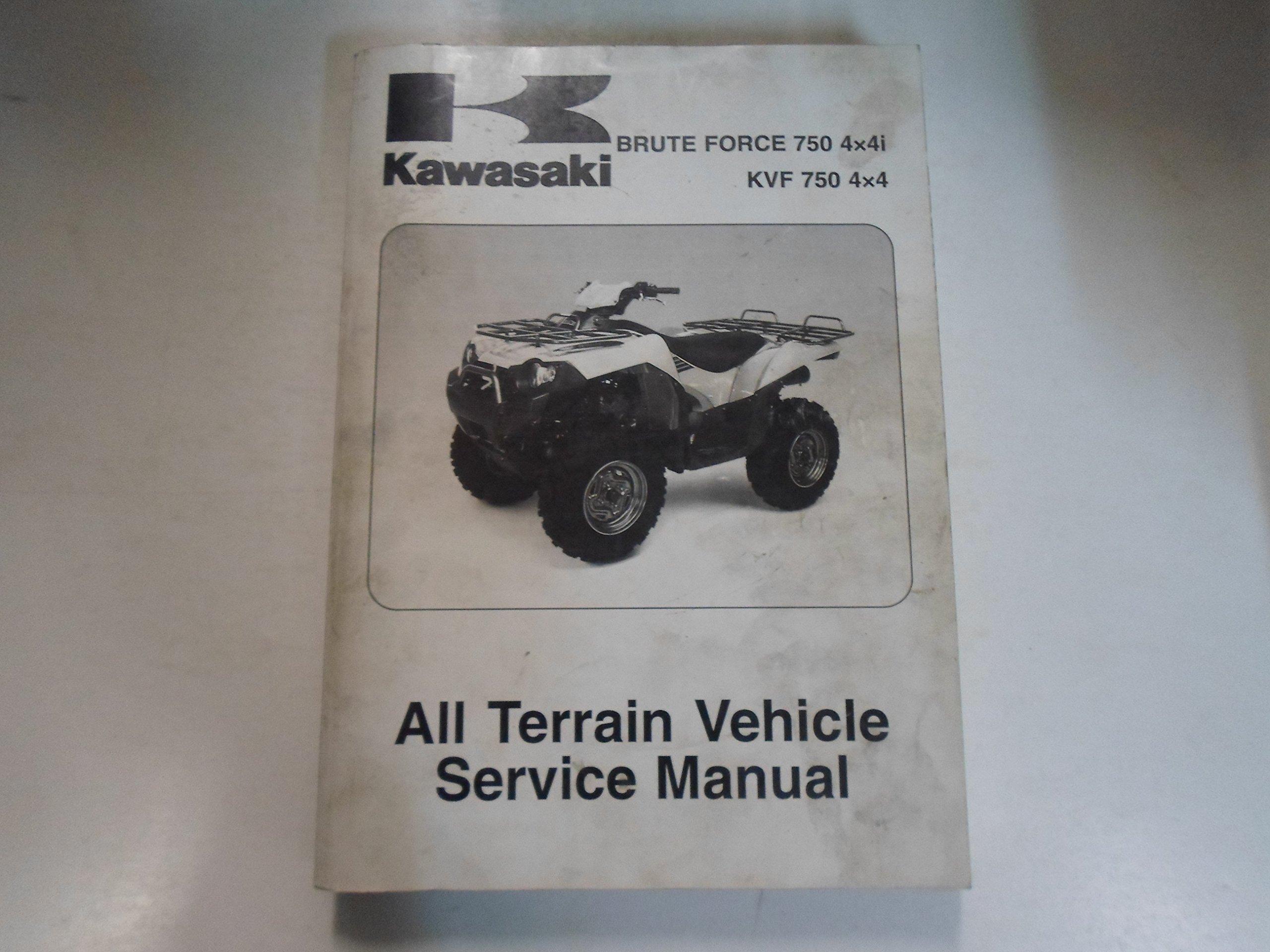 2005 2007 Kawasaki Brute Force 750 4x4i KVF 750 4x4 Service Manual OEM:  KAWASAKI: Amazon.com: Books