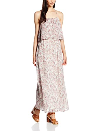 lebendig und großartig im Stil Outlet-Boutique wie man kauft s.Oliver Damen Kleid Lang, Gr. 34, Elfenbein (Creme Floral ...