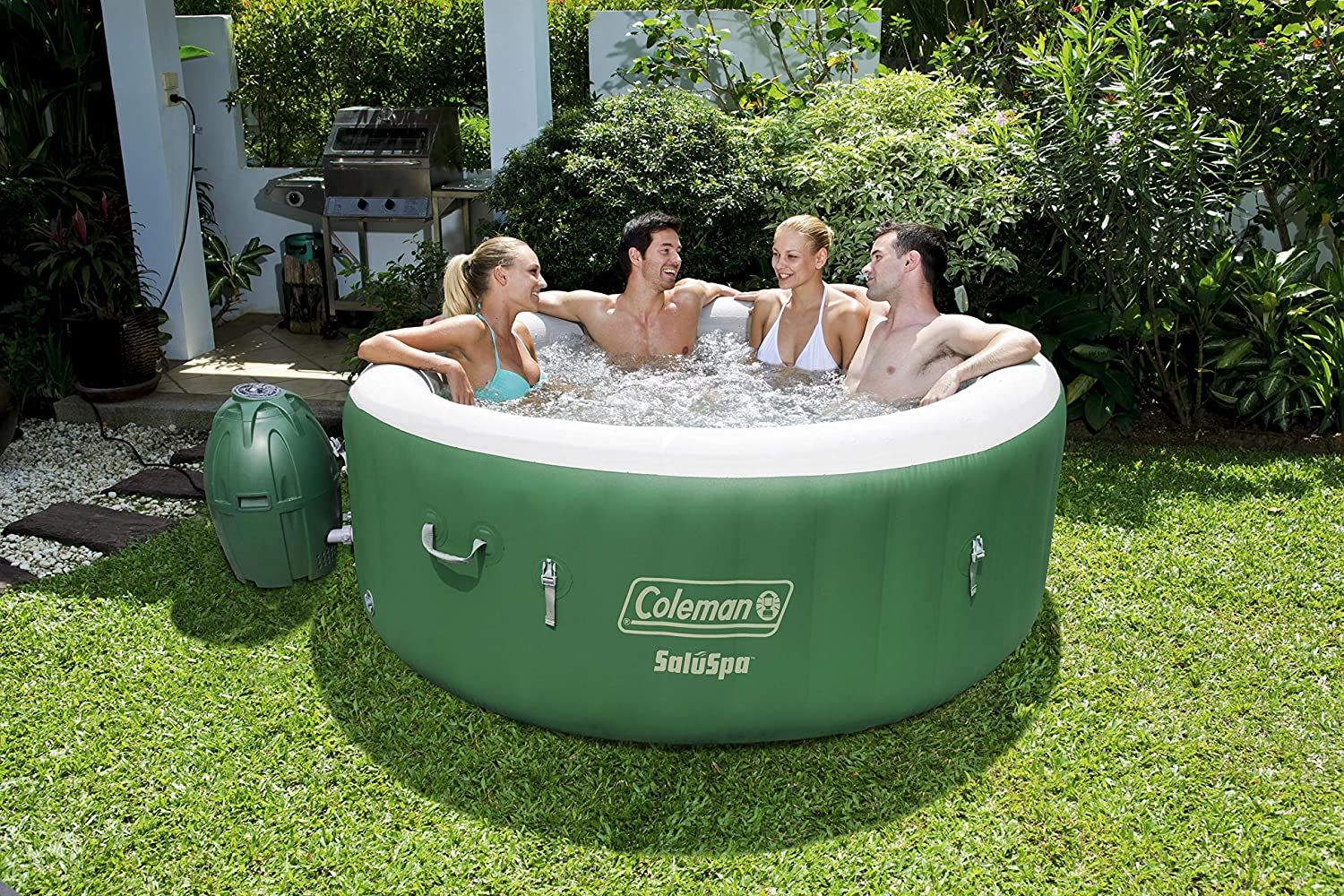 4 person seating in lay z spa