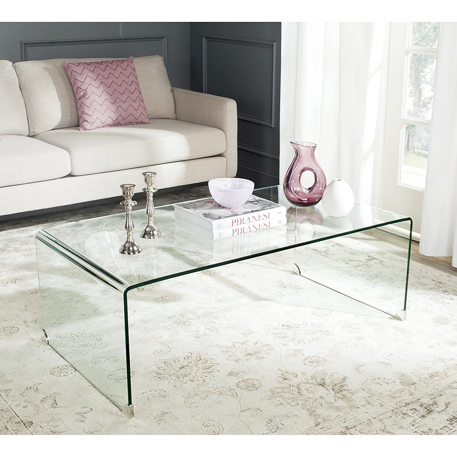 Amazon Safavieh Home Collection Willow Clear Coffee Table