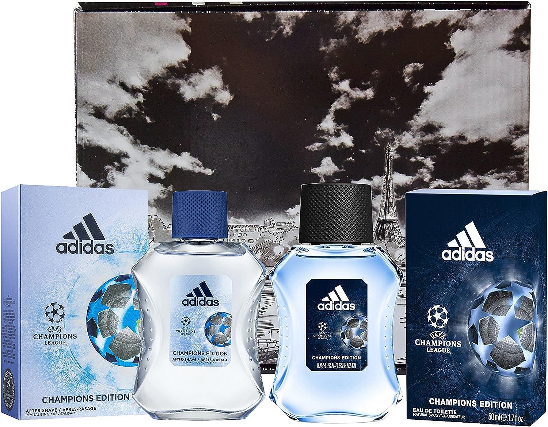 Adidas Champions League - Estuche para hombre que incluye agua de ...