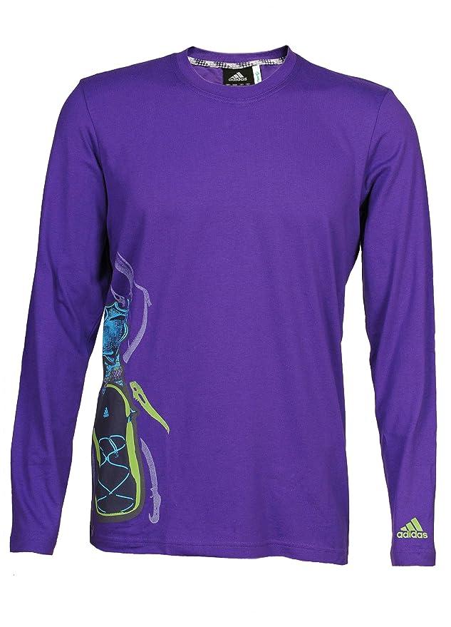 Adidas - Sudadera - para Hombre Morado Morado Talla:52: Amazon.es: Deportes y aire libre