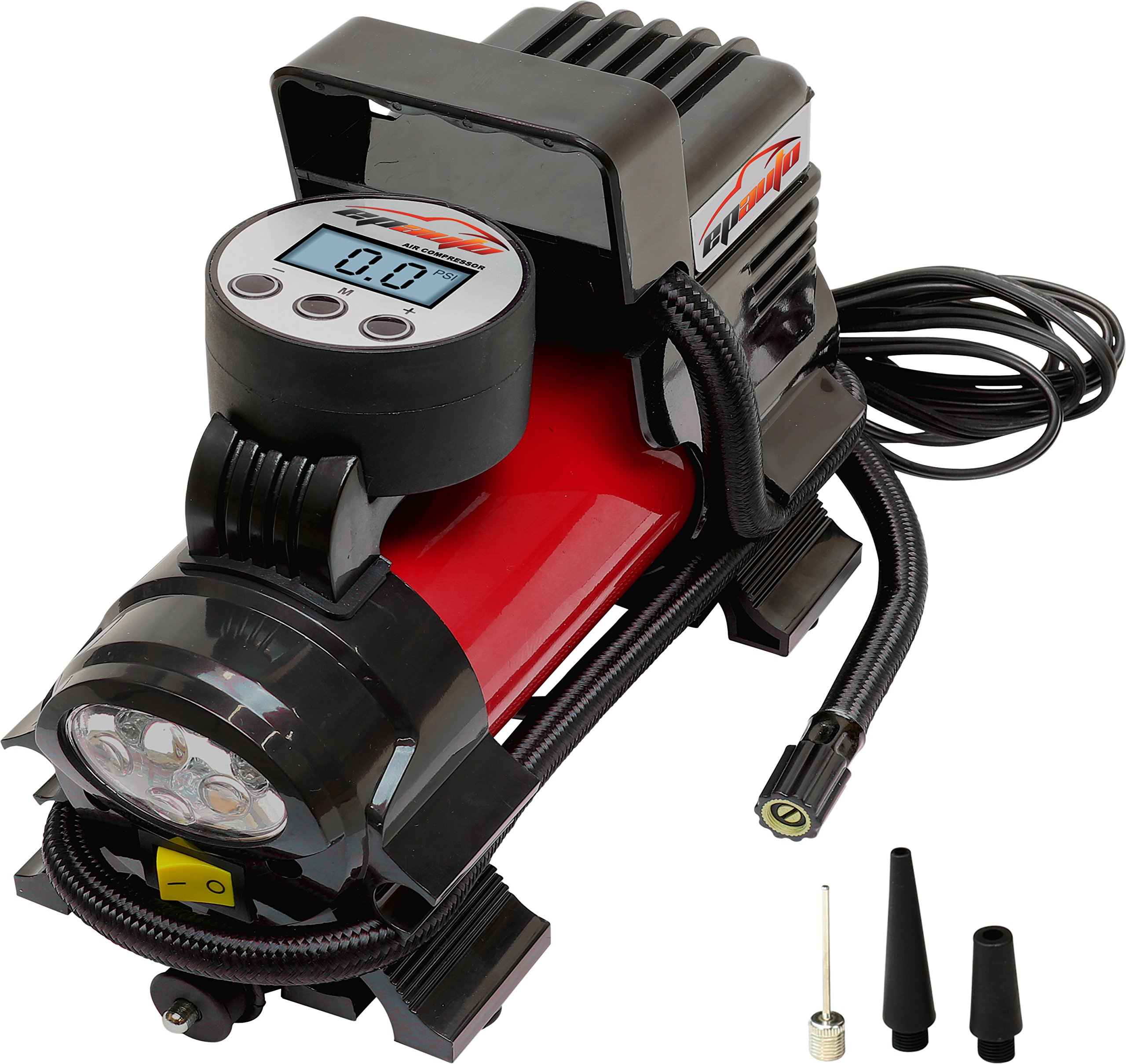 EPAuto 12V DC Portable Air Compressor Pump, Digital Tire Inflator product image