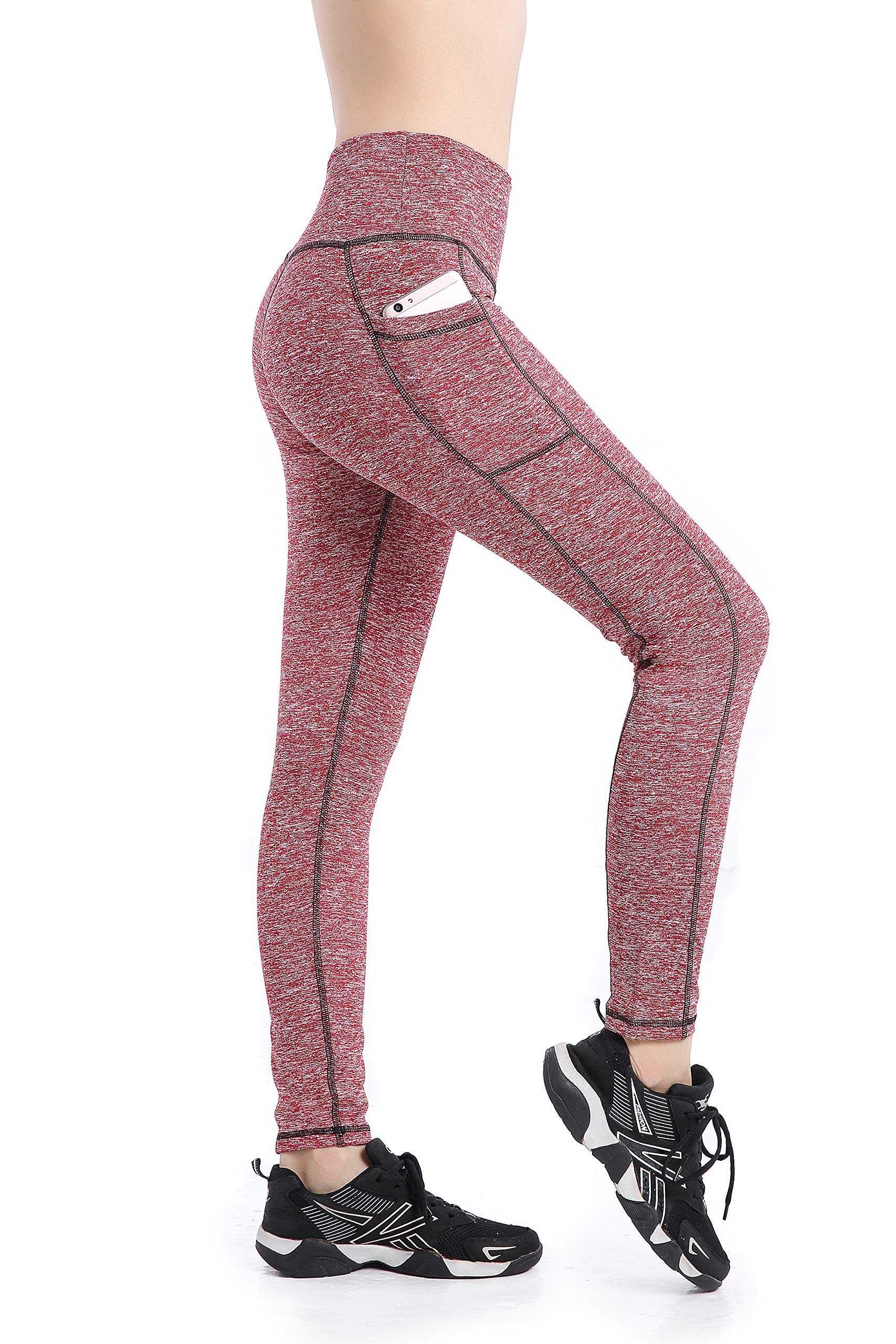 5f29bb347031b8 EAST HONG Women s Pocket Workout Leggings Running Yoga Pants Ankle Tights  product image