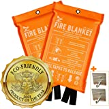 Supa Ant Eco-Friendly (1500֯F) Fire Blanket, High Visibility CE Certified Emergency Fire Blanket for Home, Kitchen, Car, Van,