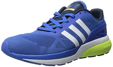 new concept bbba4 87cce ... clearance adidas neo mens cloudfoam flow shoeblue white yellow8 8d013  92418
