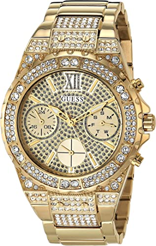 Guess 39.5MM Watch with Crystals by Swarovski