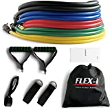 FLEX-i® Resistance Bands Set – Stackable Resistance Tubes – Exercise Resistance Bands with Handles, Ankle Straps, Door…