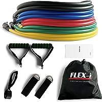 FLEX-i® Resistance Bands Set – Stackable Resistance Tubes – Exercise Resistance Bands with Handles, Ankle Straps, Door…