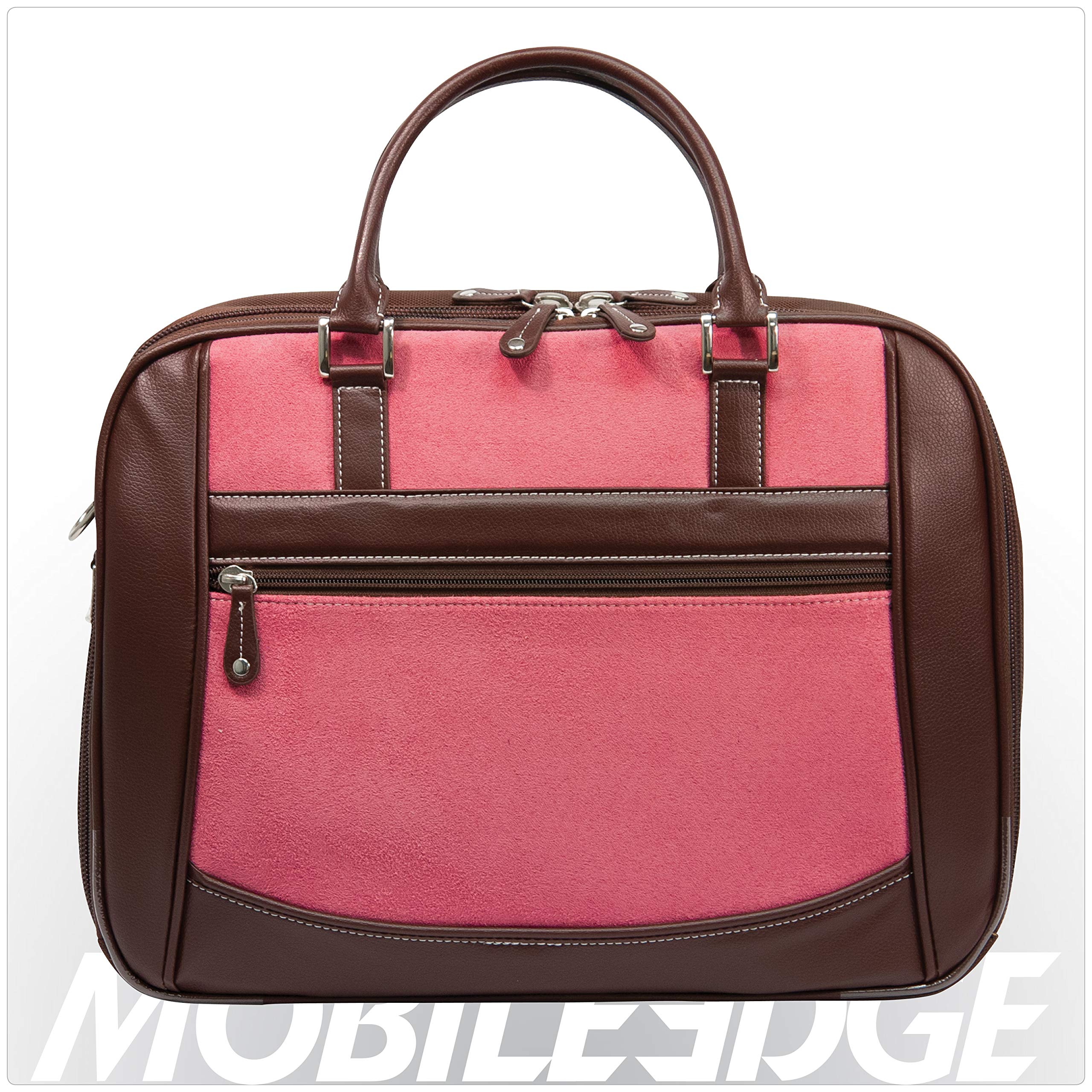 Mobile Edge Women's Black w/Pink, Checkpoint Friendly Element Laptop Briefcase 16 Inch PC, 17 Inch MacBook, Business, Travel MESFEBX by Mobile Edge (Image #1)