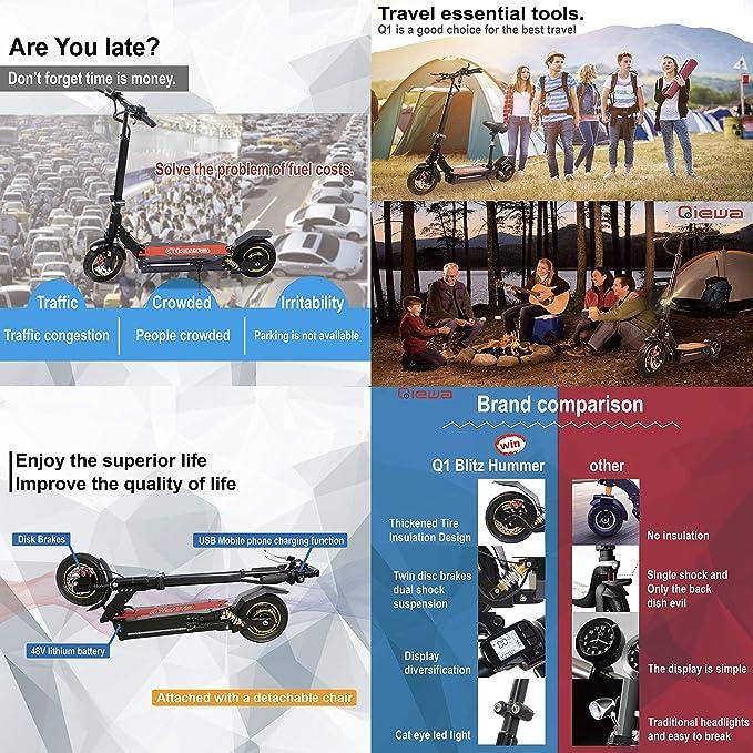 Amazon.com: QIEWA Q1-Hummer Electric Scooter | Top Speed ...