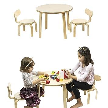 Amazon.com: Juego de mesa y 2 sillas infantiles Abedul ...