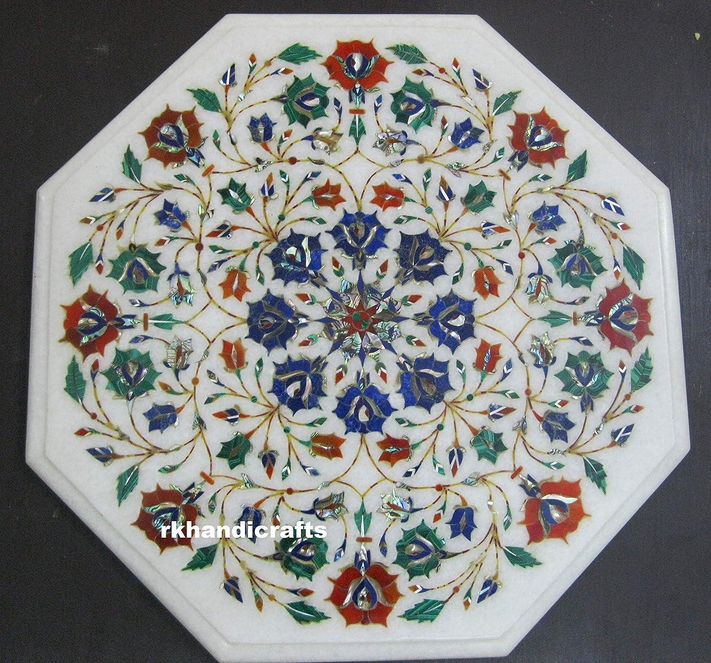 14 Inches Coffee Table obere Semi Precious Stone Inlaid zu suchen Ihre Balcony Garden