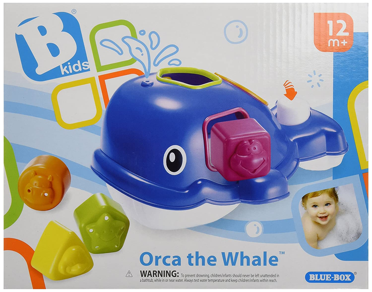 Amazon.com : B kids Orca the Whale Bathtub Toy (Discontinued by ...