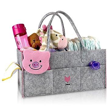 Amazon.com: zintees Caddy de pañales de bebé | Guardería ...
