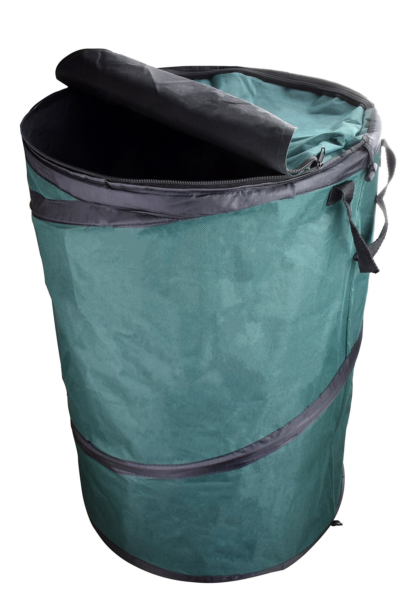 SE GC5002L Extra-Tough Collapsible Leaf Bag with Zippered Lid, Green