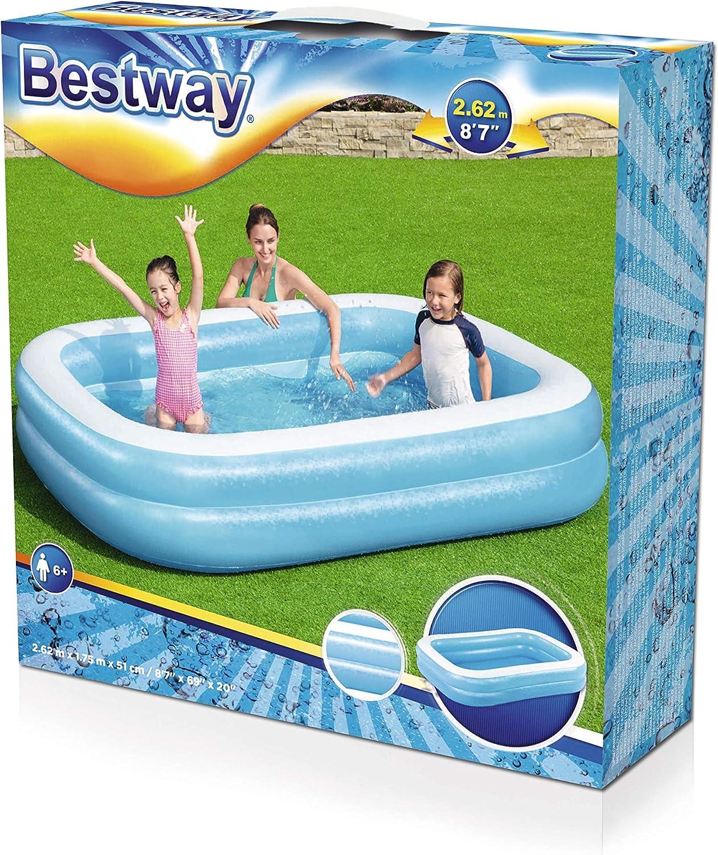 Bestway Family, Pool rechteckig für Kinder, Leicht aufbaubar, Blau ...