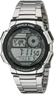86c25c8dbe93 Casio AE1200WHD-1A - Reloj digital de acero inoxidable para hombre ...