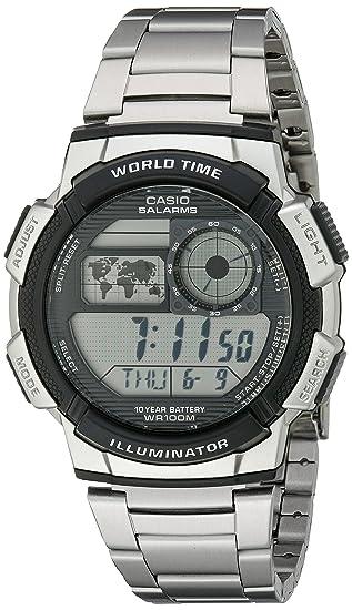 Casio AE1000WD-1AVCF - Reloj de Pulsera Hombre, Acero Inoxidable, Color Plata