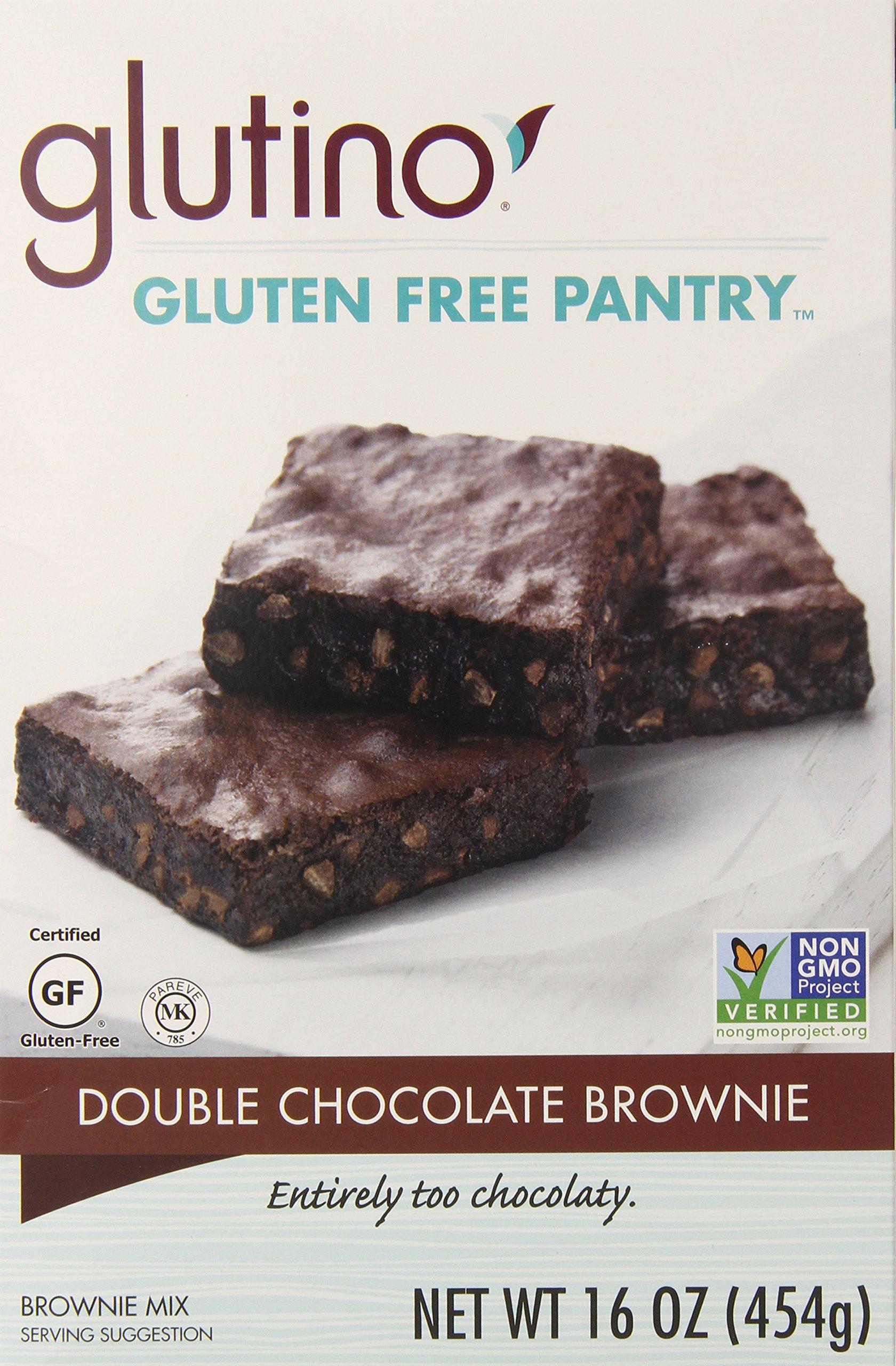 Glutino Gluten-Free Pantry Double Chocolate Brownie Mix, 16 oz by Glutino