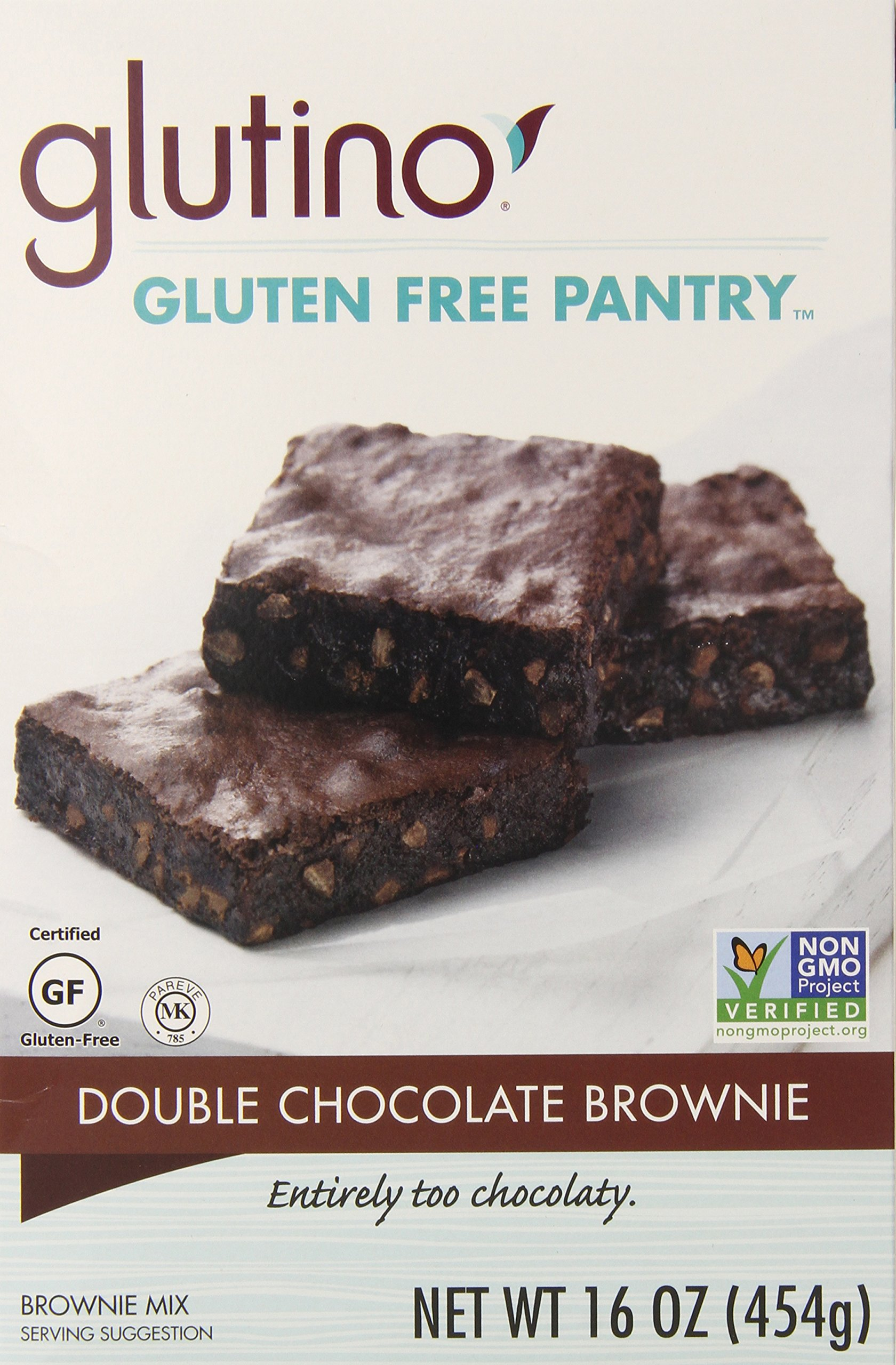 Glutino Gluten-Free Pantry Double Chocolate Brownie Mix, 16 oz by Glutino