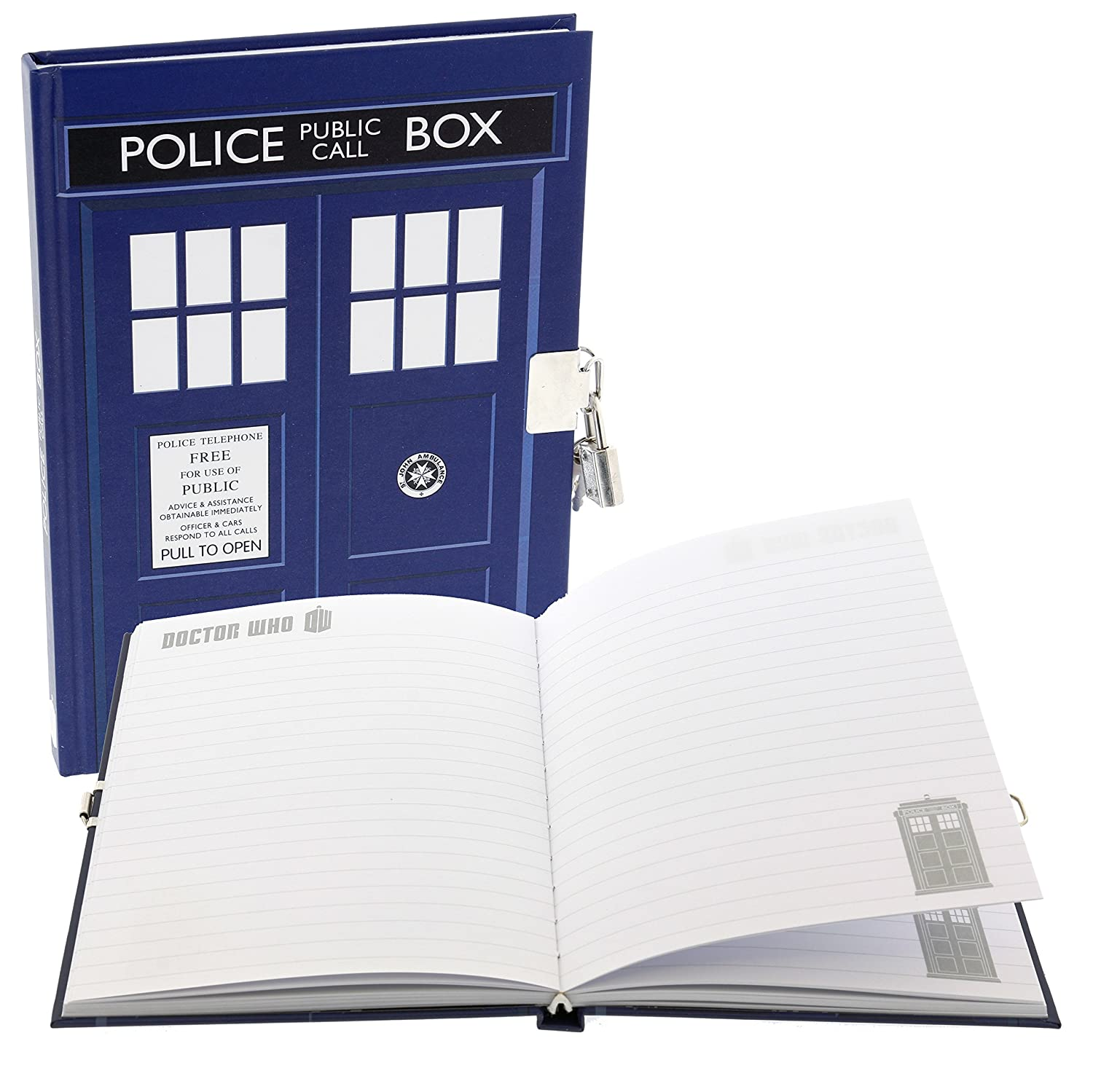Doctor Who Diary - TARDIS Lock and Key Journal - 6 x 8.5 Notebook