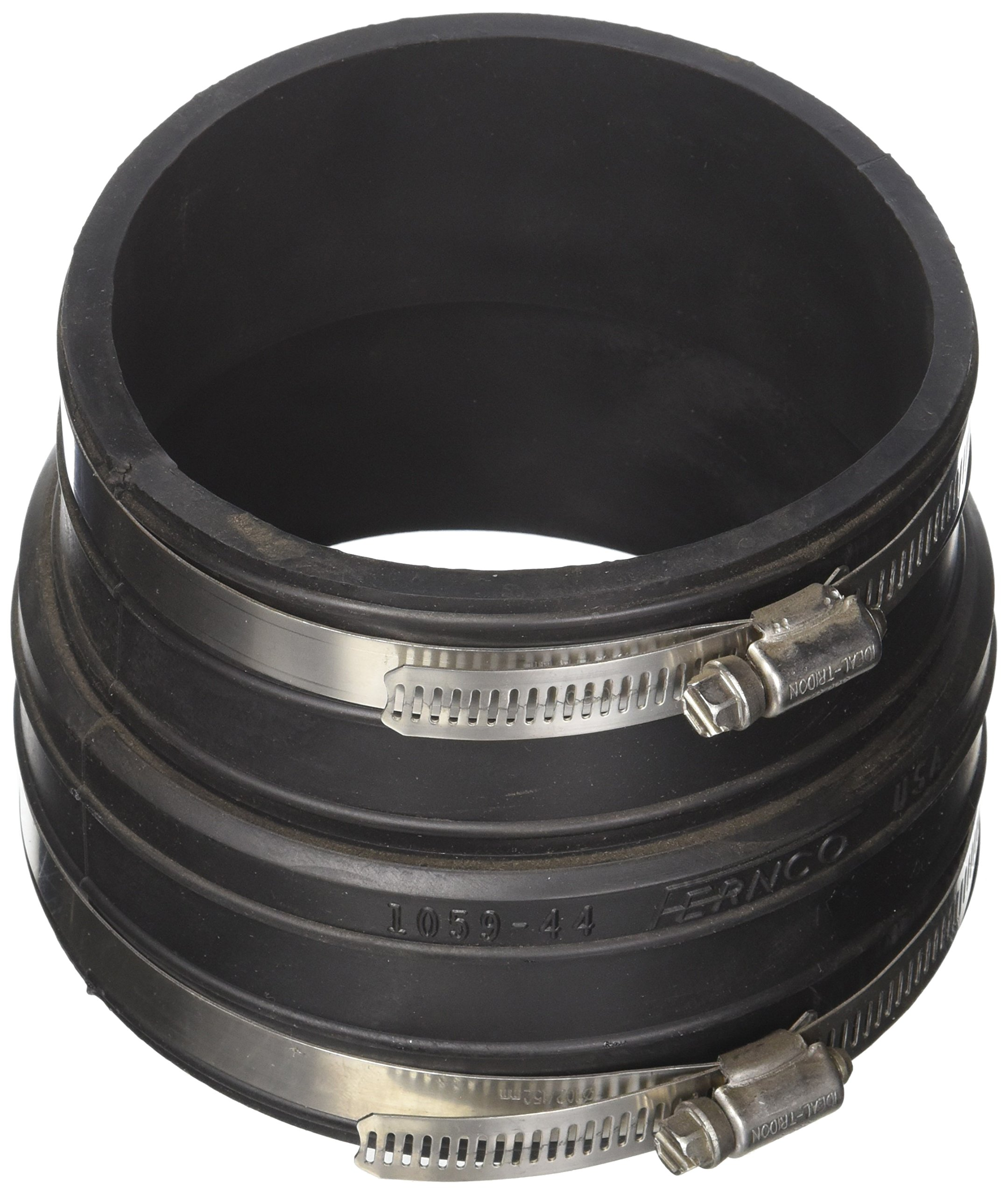 Fernco P1059-44 4-Inch by 4-Inch Rubber Flexible Coupling Repair Fitting