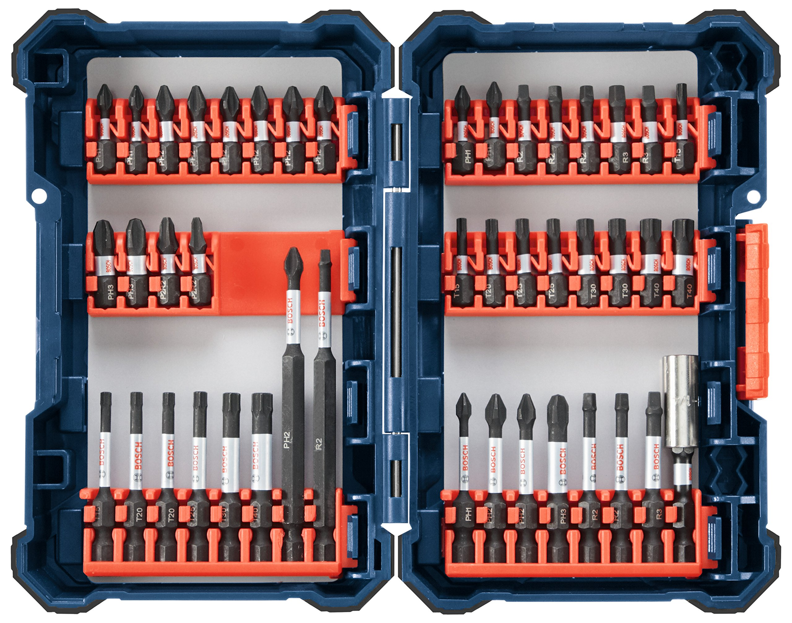 Bosch 44 Piece Impact Tough Screwdriving Custom Case System Set SDMS44