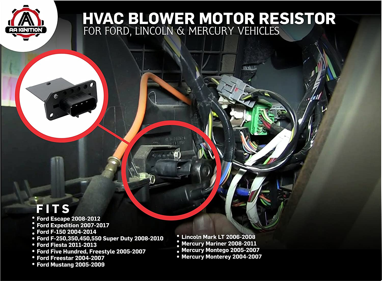 Ford Escape Blower Motor Resistor Location Wiring Hvac Fits Expedition Super Duty Mustang Lincoln Mark Mercury Mariner Replaces