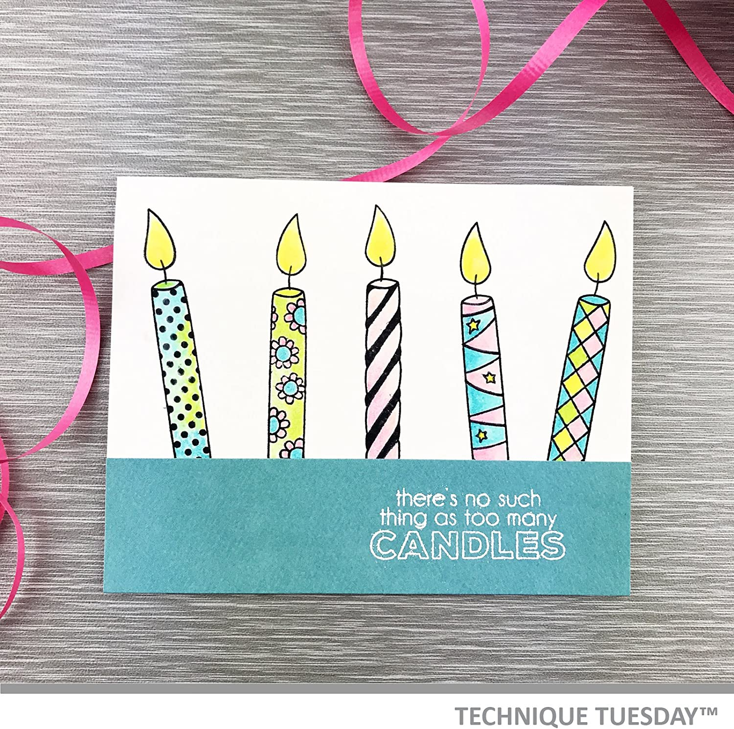 Candle Number Cutting Dies Birthday Candles Clear Stamp 0-9 Scrapbooking Die Cut