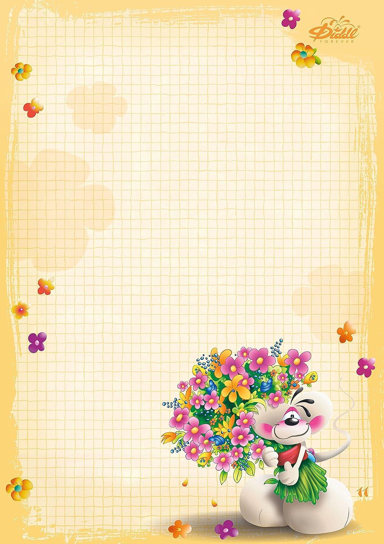 Depesche - Gestionnaire dBloc A4, n ° 11, vœux Fleurs ...