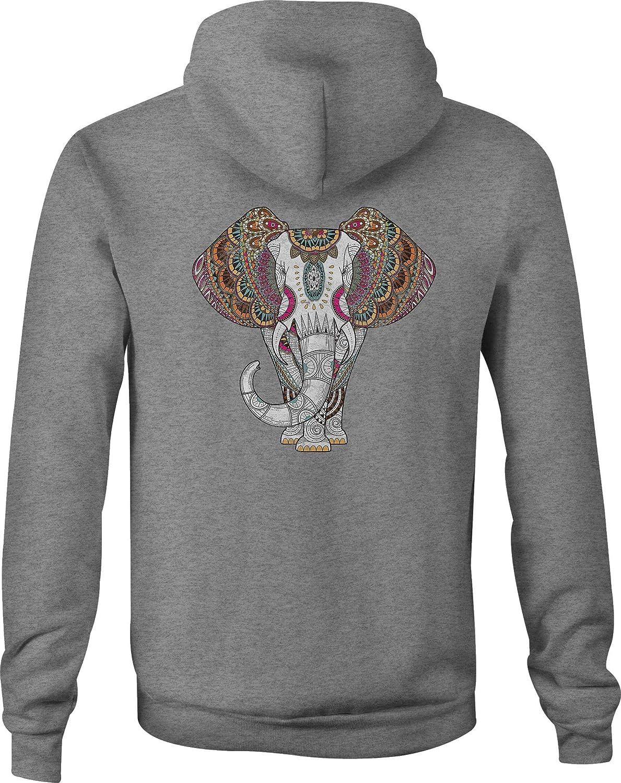 Zip Up Hoodie Tribal African Elephant Hooded Sweatshirt for Men