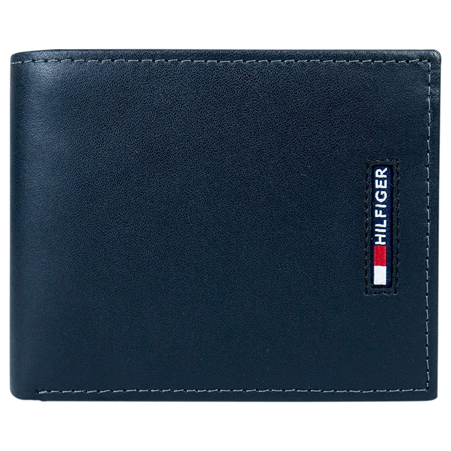 Tommy Hilfiger Mens Leather Wallet-Bifold with RFID Blocking Protection  black  One Size